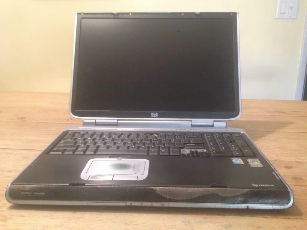 Early laptop by HP Pavillion