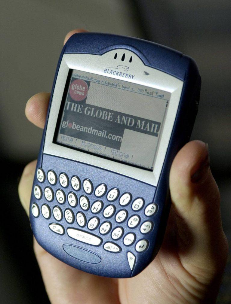 Old Blackberry mobile phone.