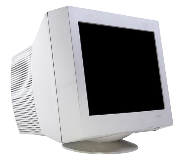 Old computer monitor.