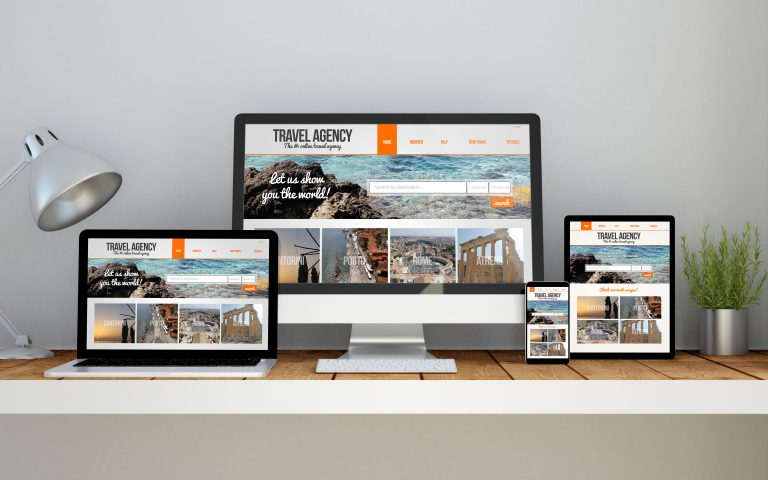 Responsive web designs allow website content to be formatted based on the viewing port size of the device, creating a tailored viewing experience for those who are on their mobile phone, tablet, laptop, or PC.