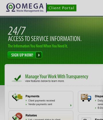Omega – Client Portal