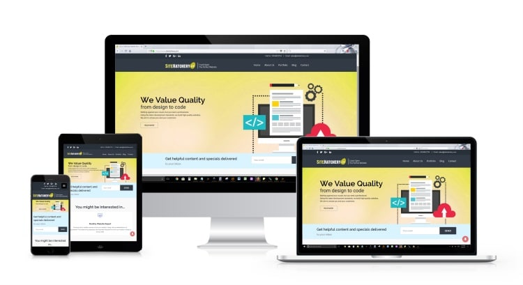 Responsive Websites allow flexibility by resizing the content on your website to accommodate the viewing port size of the electronic device, creating a better experience for web page visitors.