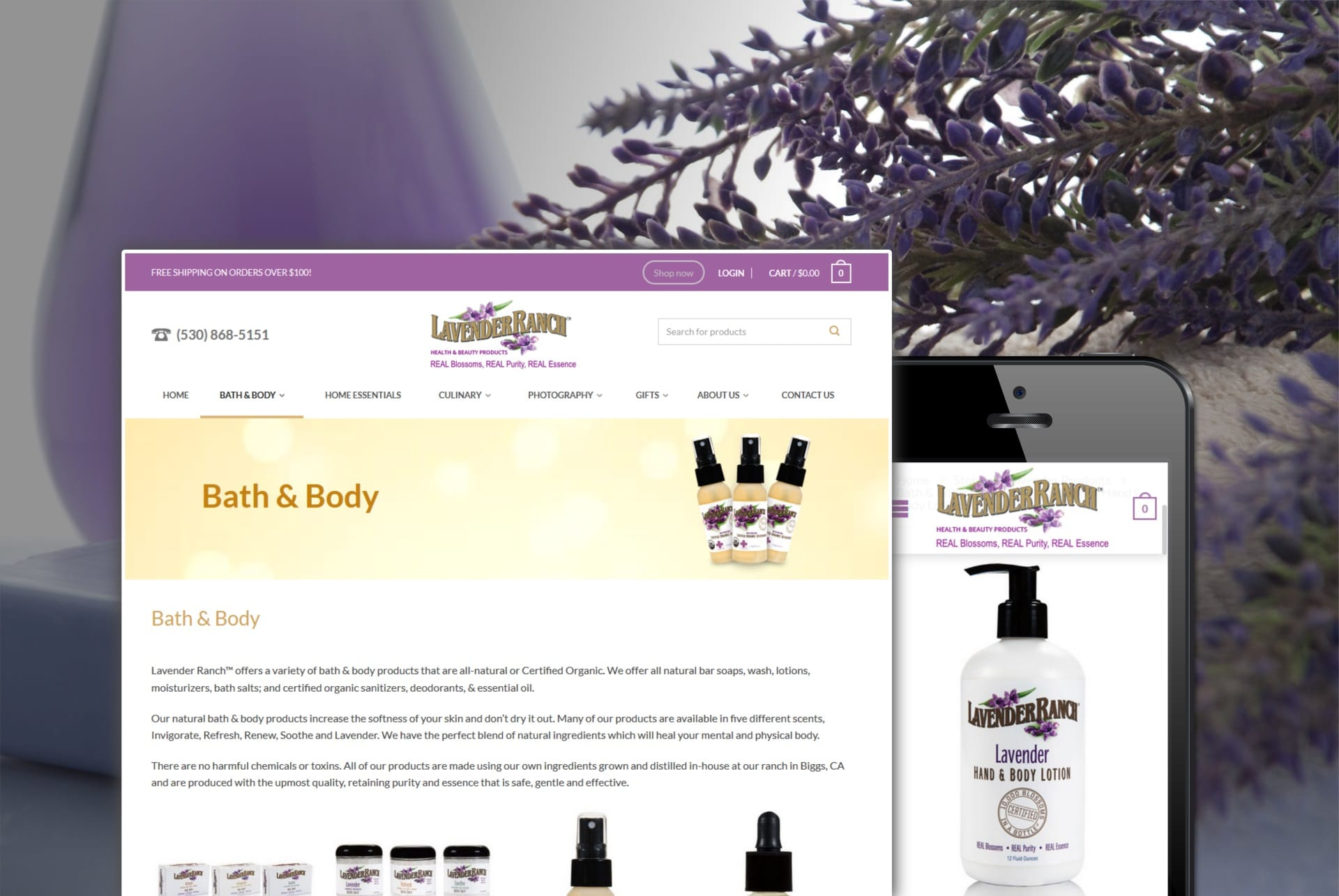 Lavender Ranch Products.