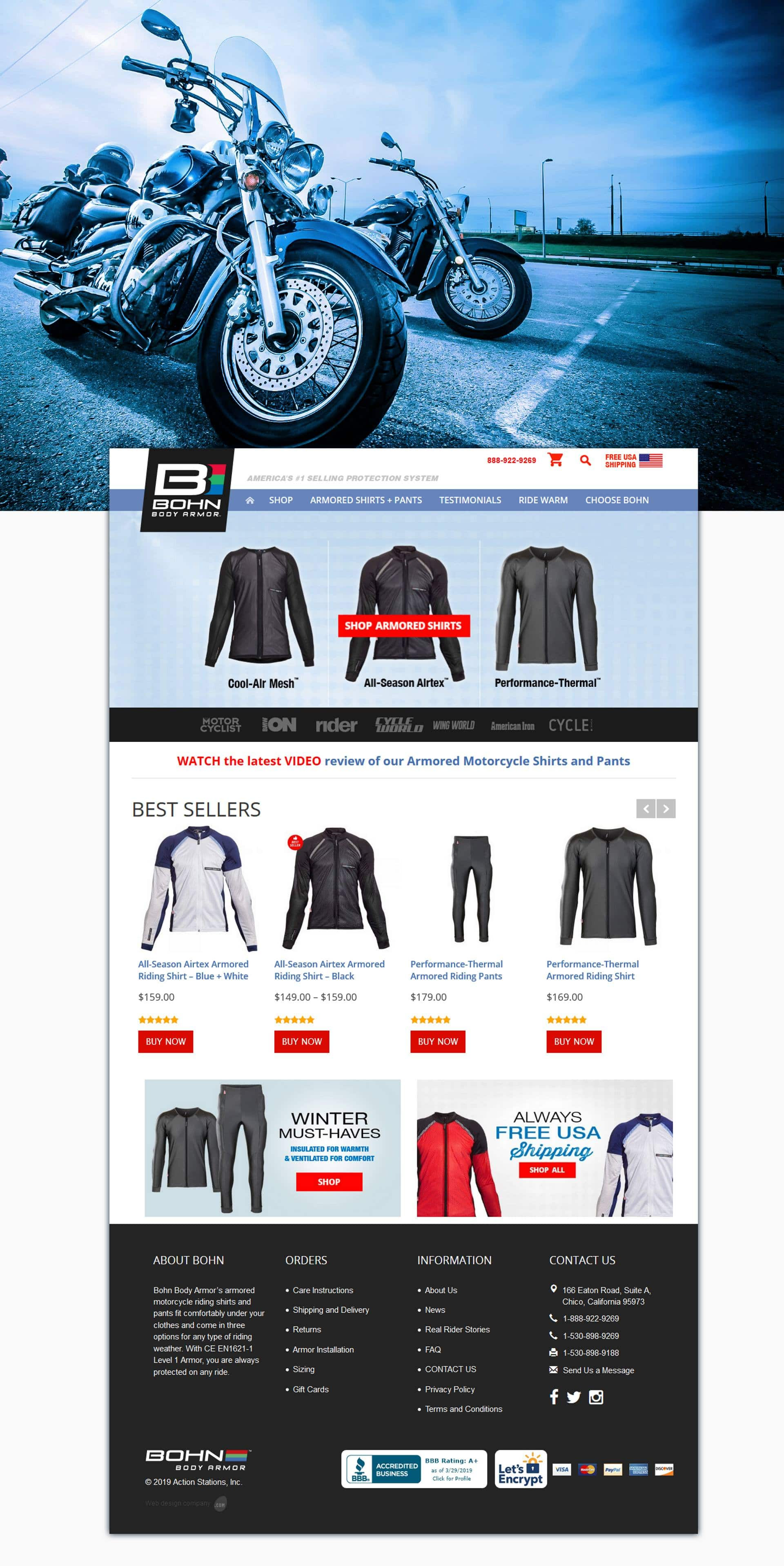 Bohn Armor Home Page Products