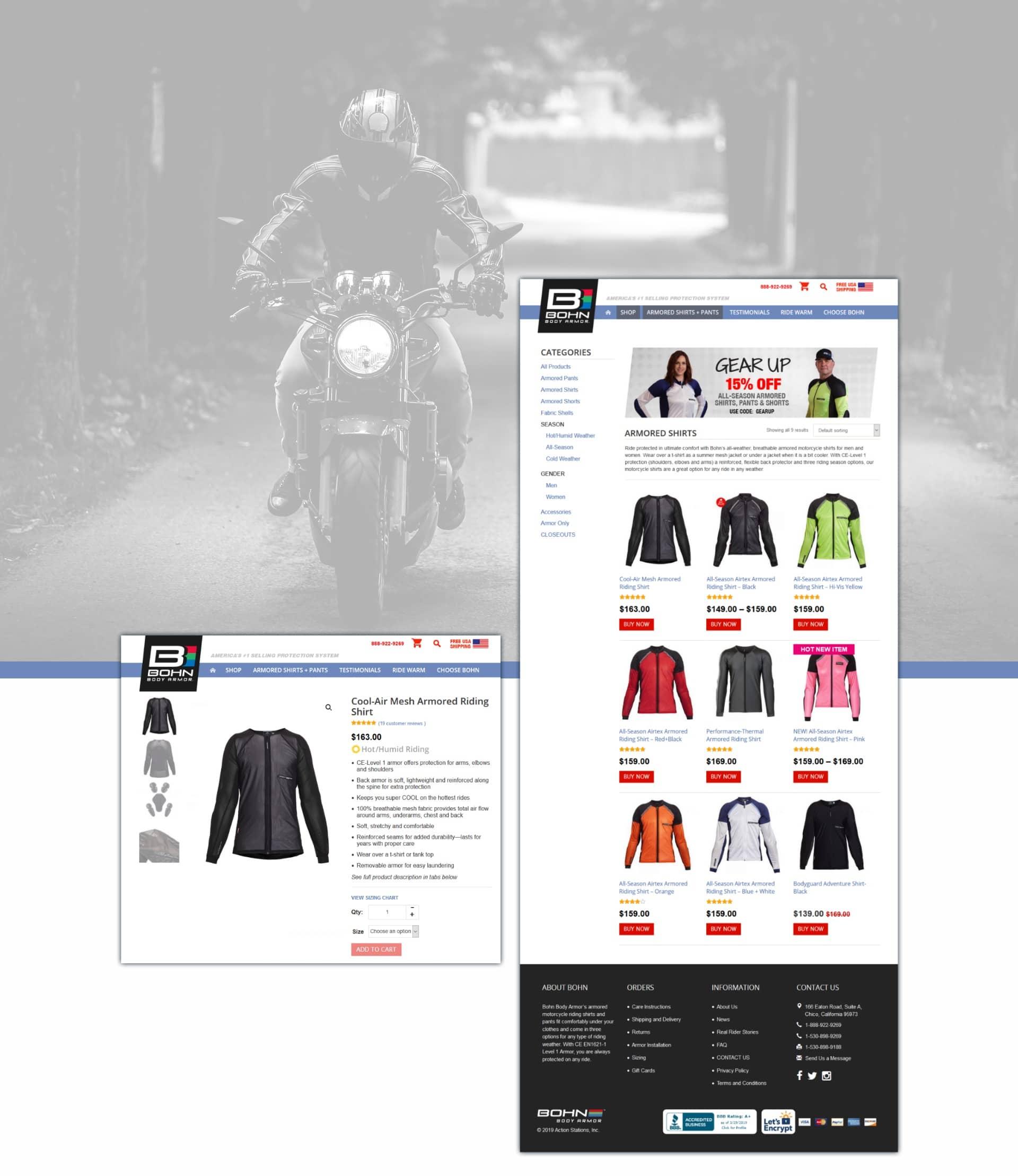 Bohn Armor Rider Jackets