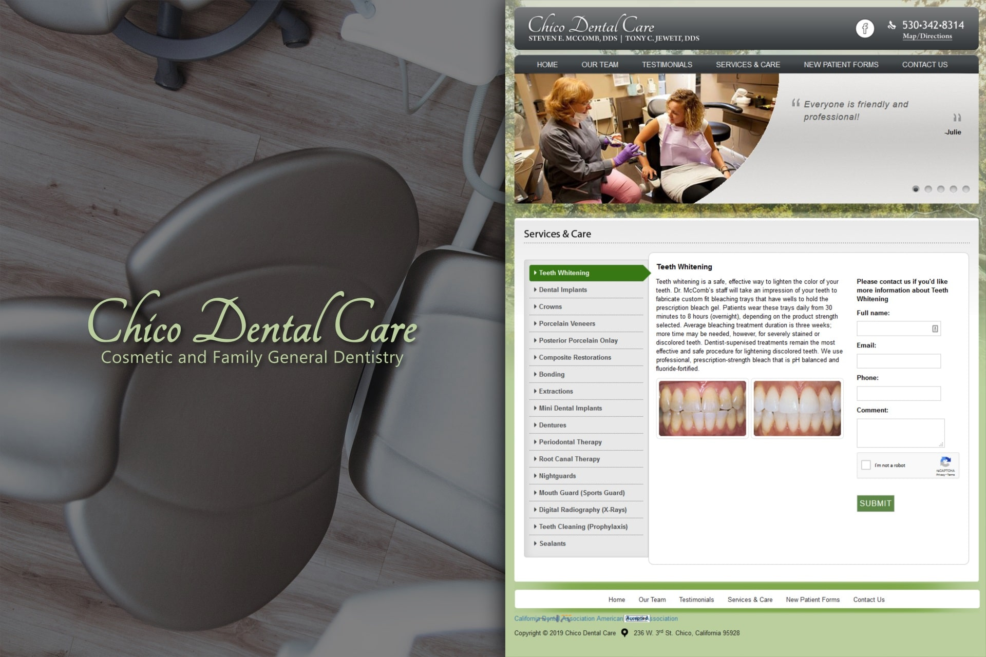 Chico Dental Care Services and Care.