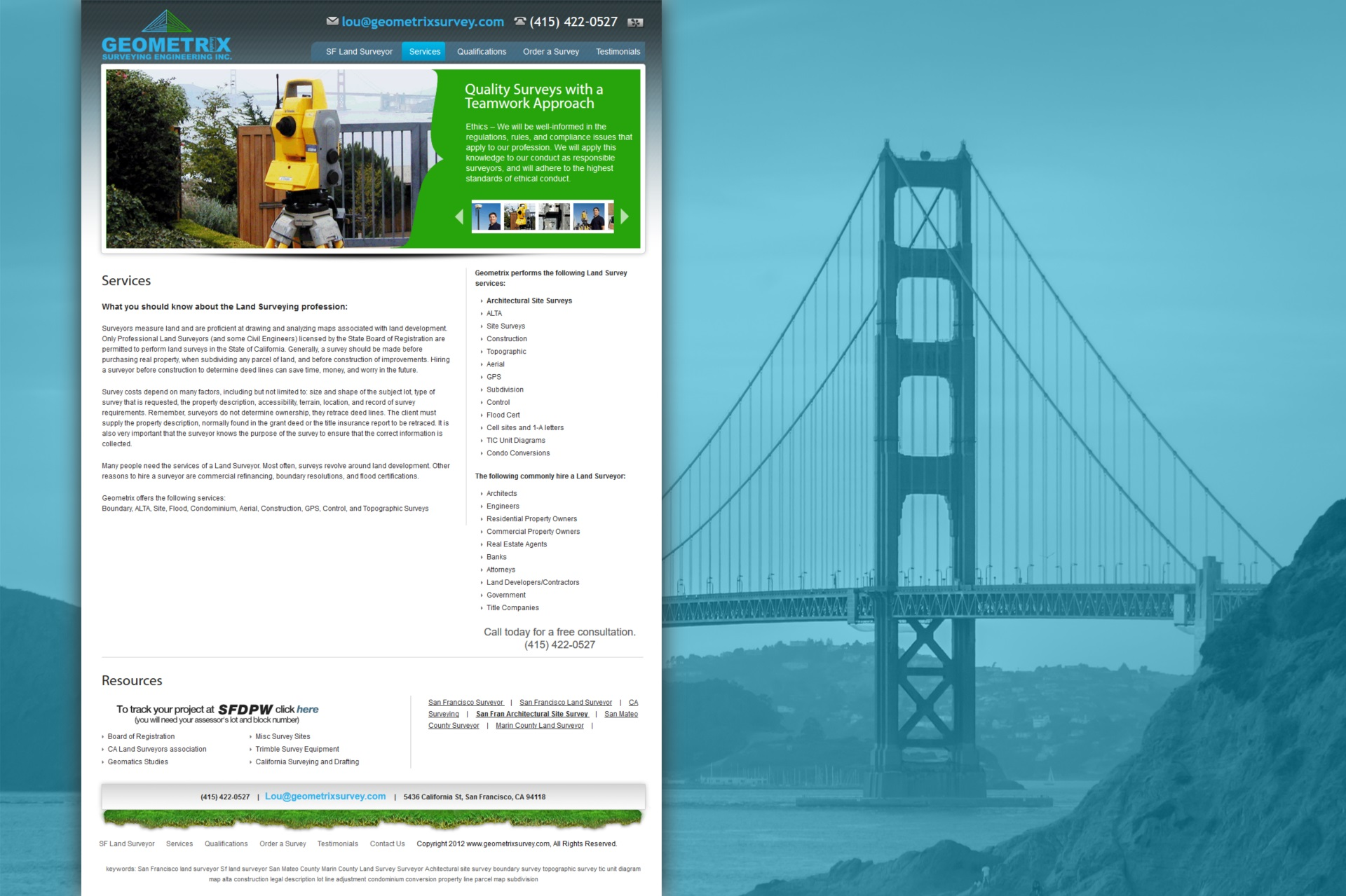 Geometrix Surveying Engineering Services.