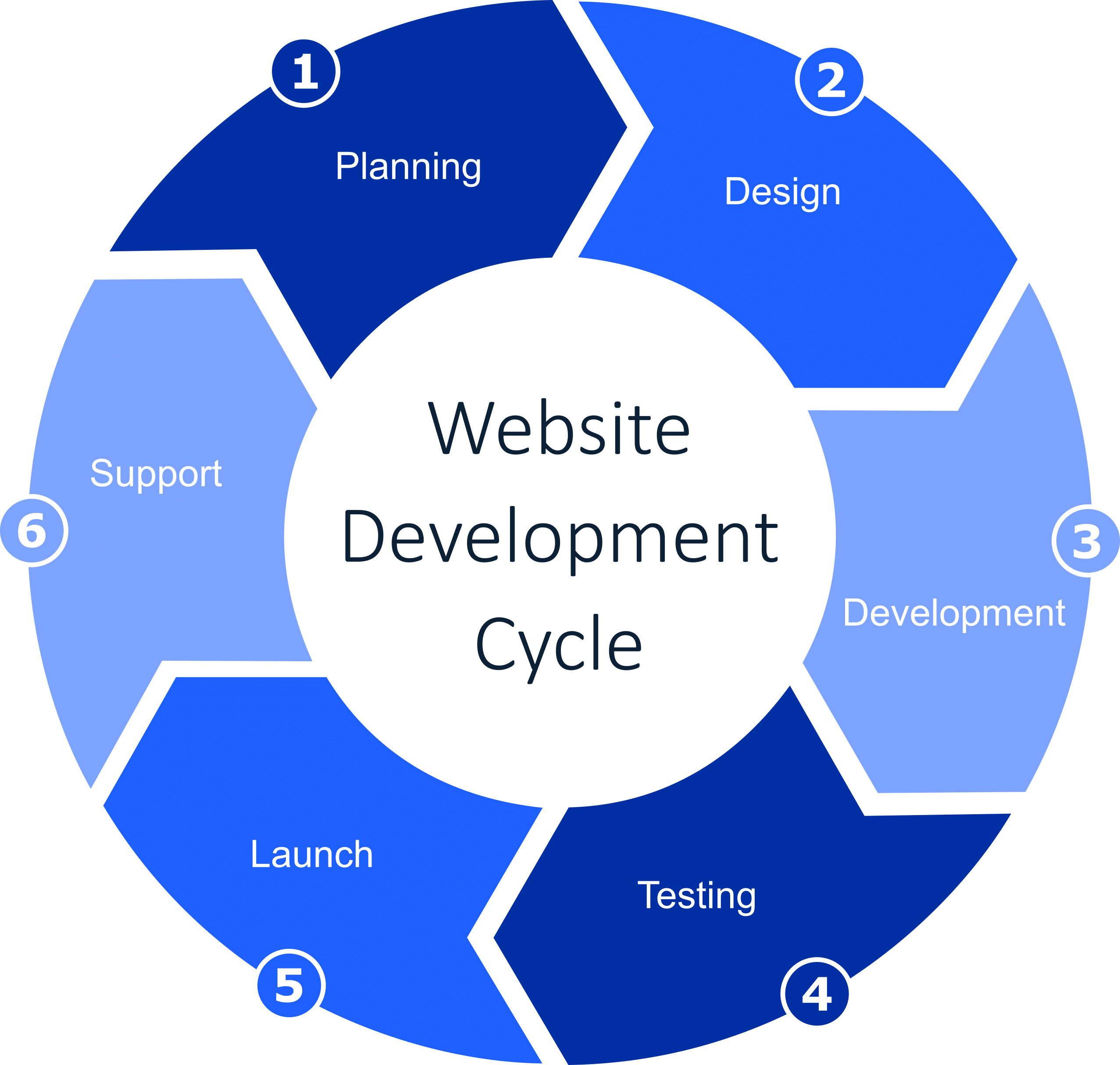 Website Development Cycle - Blue Oak Chico