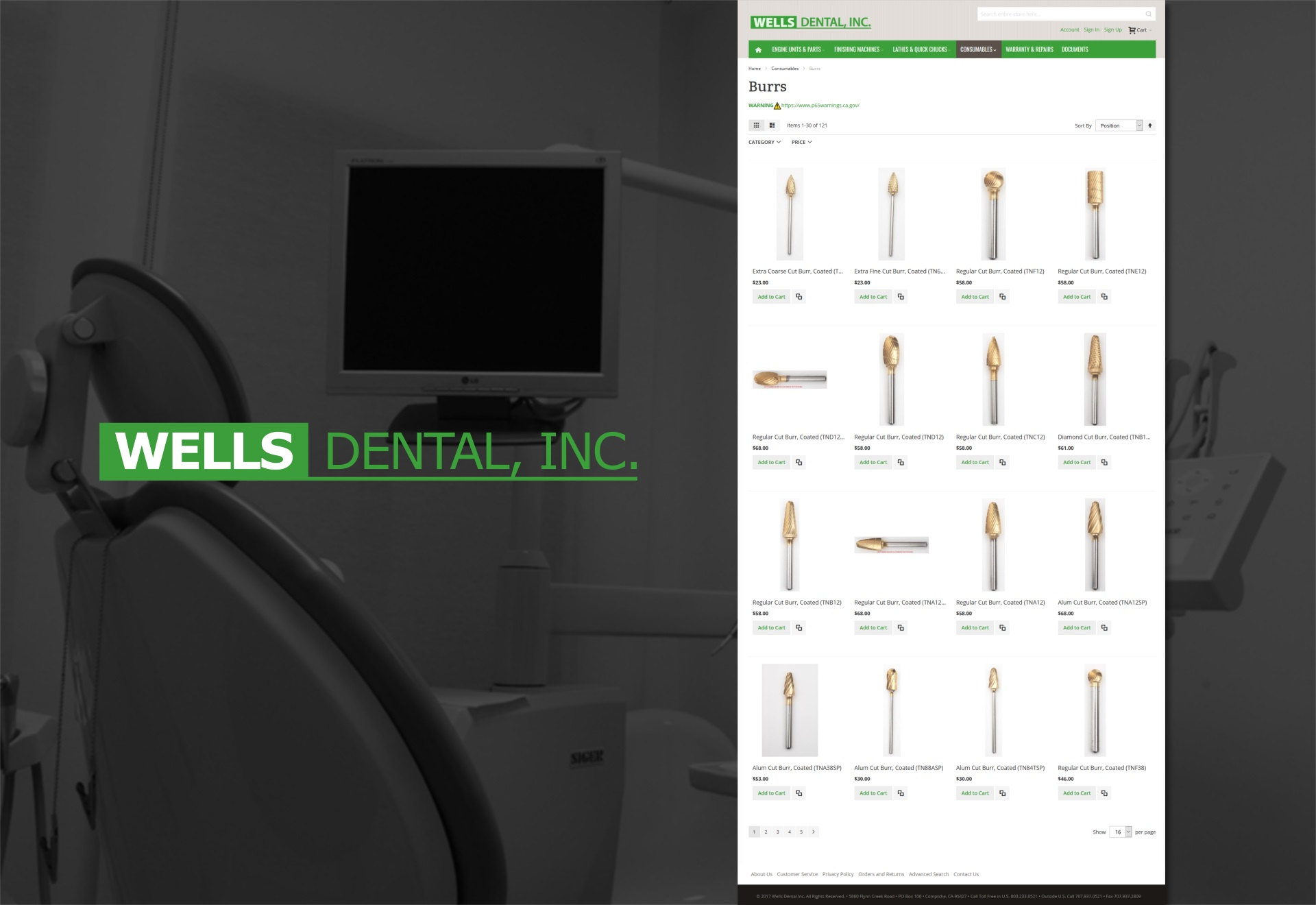 Wells Dental Supplies.