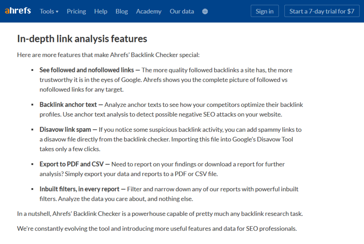 Ahrefs - In Depth Webpage Analysis