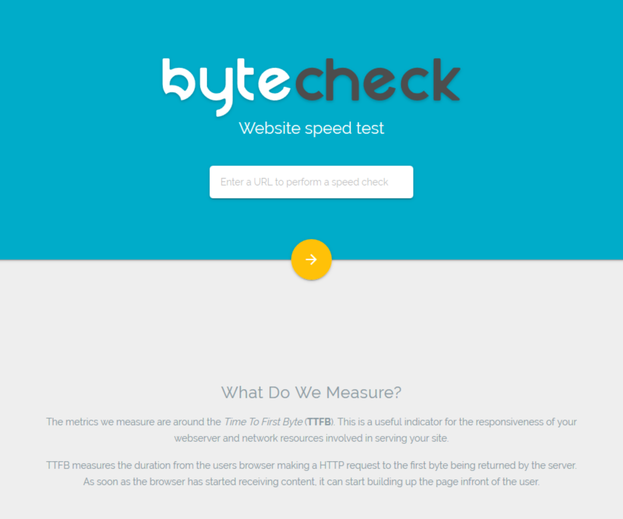 Byte Check - Homepage