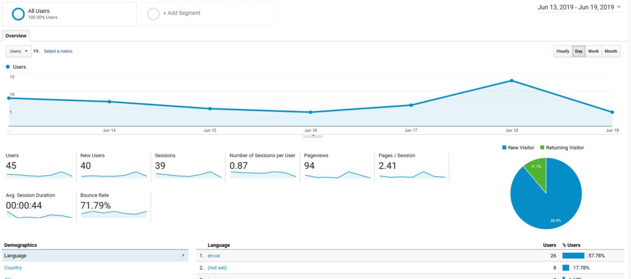 Google Analytics - Audience