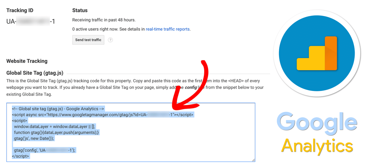 Google Analytics - Tracking ID - Enter into WordPress Website