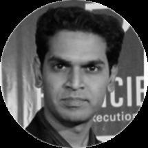 Mangesh - Web Developer in Black and White