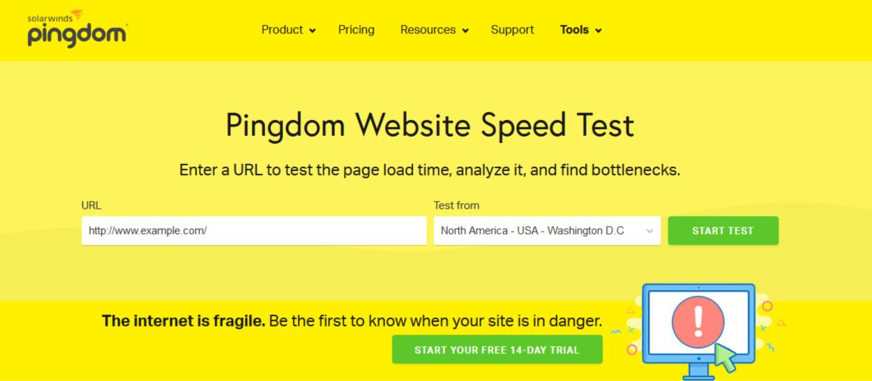Pingdom - Homepage Seach Bar