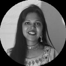 Preeti - Web Developer in Black and White