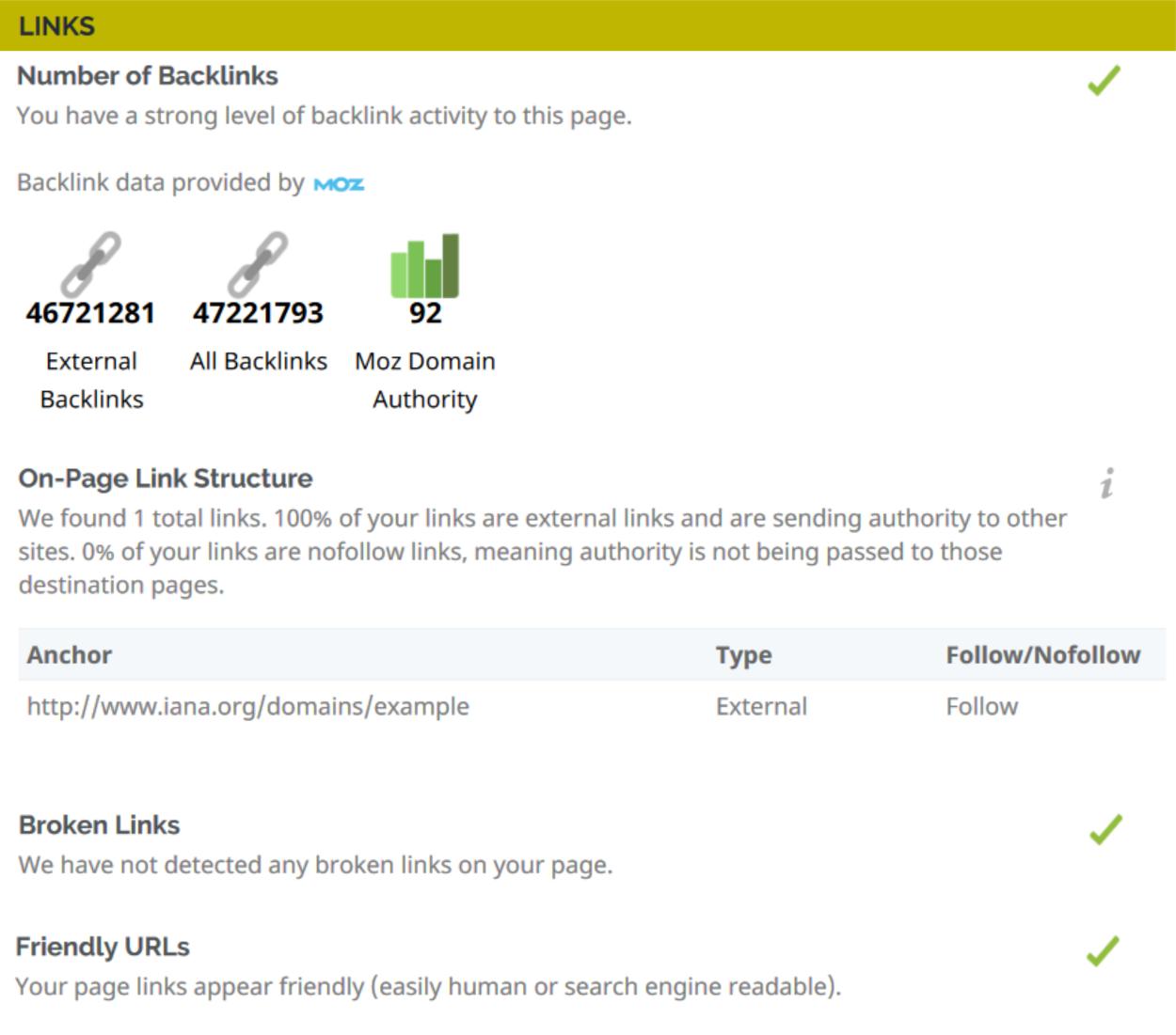 Website Audit Tool - Links